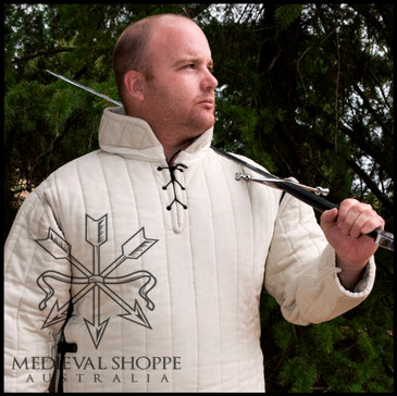 14th Century Gambeson, Large (White)