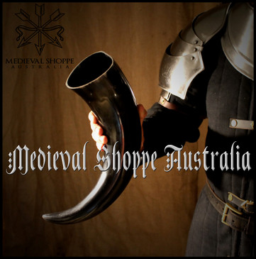 Gigantic Real Cow Horn Cup with Leather Belt Holster