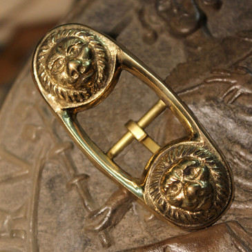 Large Renaissance Lion-Head Baldric Buckle
