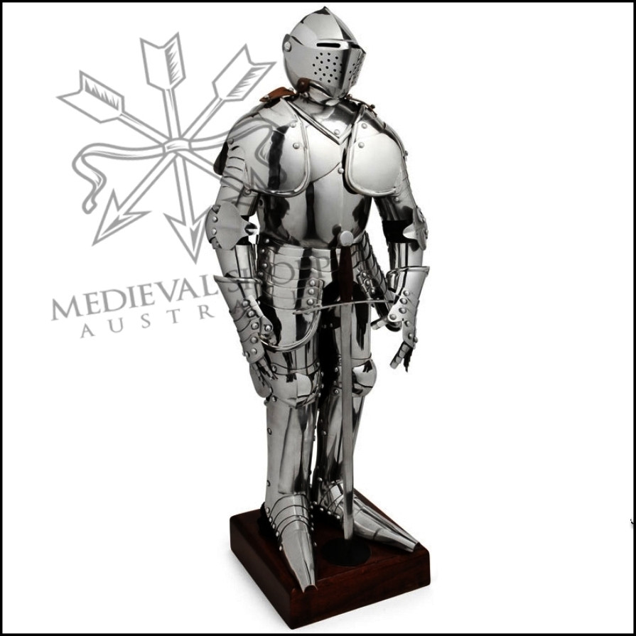 Stainless Steel Scale Replica Articulated Suit of Armour