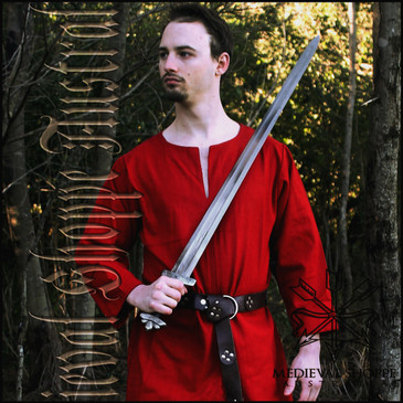 Heavy Cotton Red Medieval Tunic