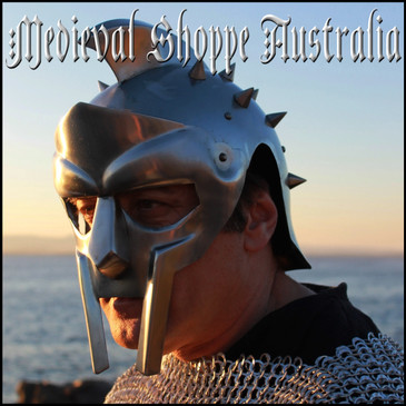 Spiked Gladiator Helmet with Suspension Liner & Chinstrap