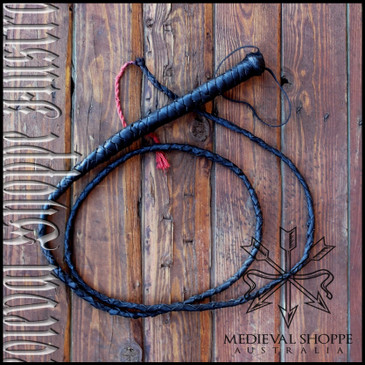 Braided Real Leather Whip - Six Foot
