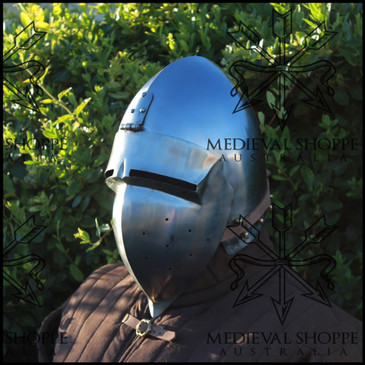 Swiss Klappvisor Bascinet  - Medieval Helmet of Switzerland
