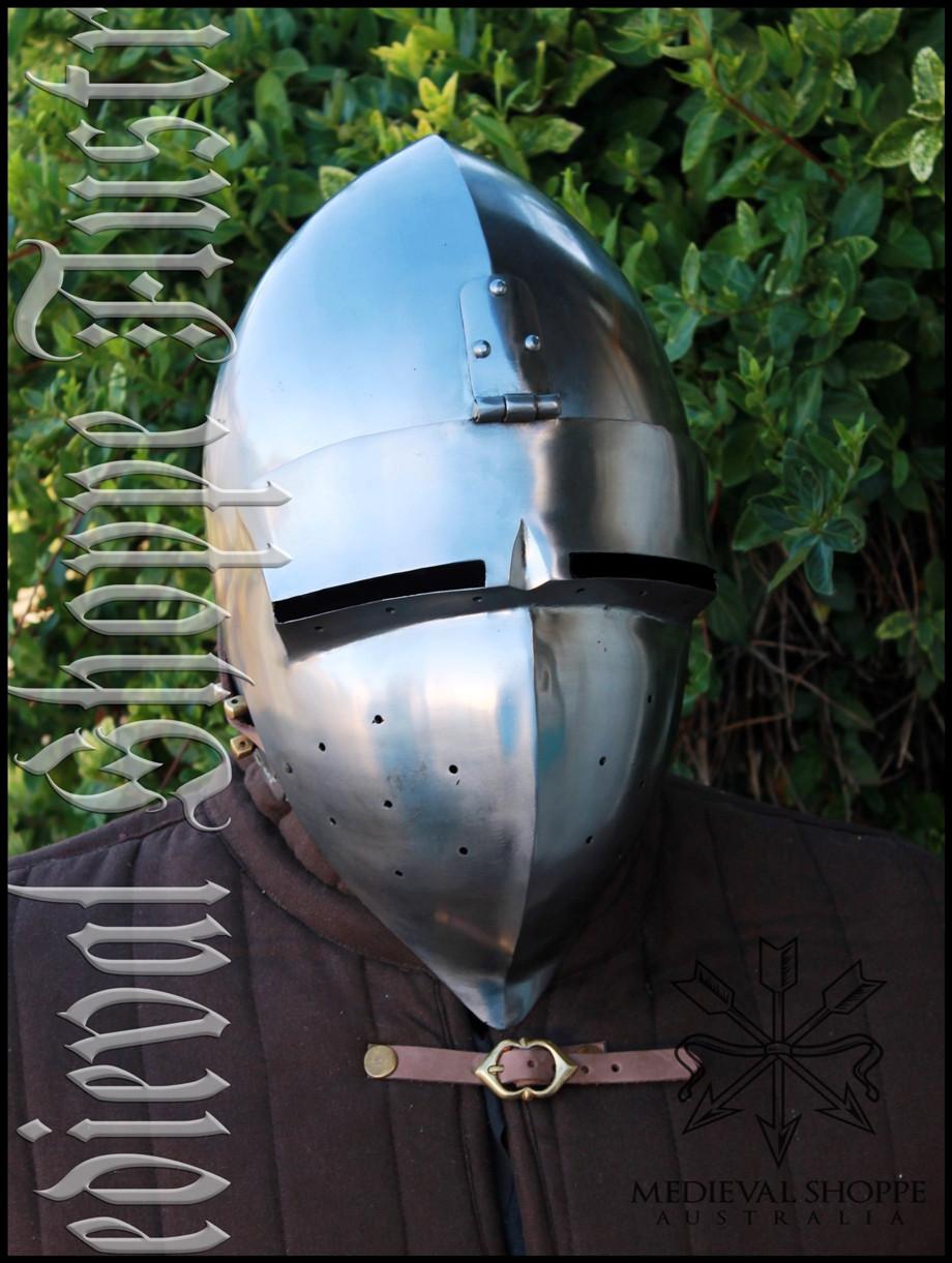 Swiss Klappvisor Bascinet  - Medieval Helmet of Switzerland