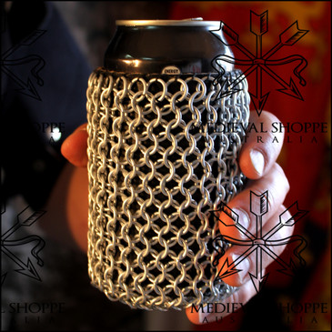 Chain Mail Clad Can Koozie