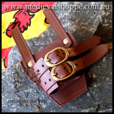 Brown Sword Frog - sword holster for belt - scabbard holder