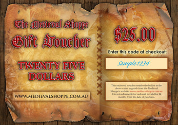Medieval Shoppe $25 Gift Voucher