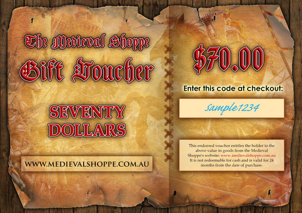 Medieval Shoppe $70 Gift Voucher
