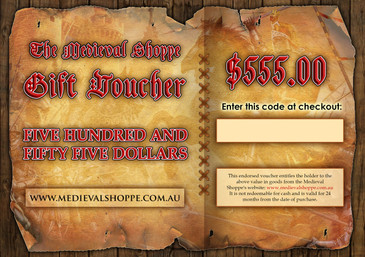 Medieval Shoppe $555 Gift Voucher