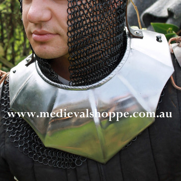 Gothic Gorget with Optional Pauldron Straps