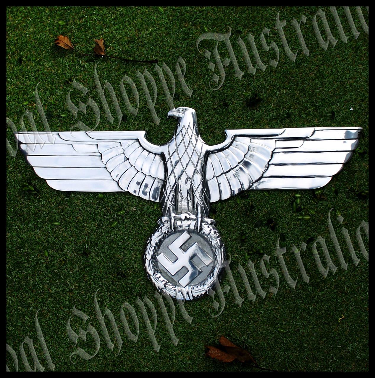 Huge Reichsadler: 3rd Reich National Insignia (Hoheitszeichen) Art-deco Eagle Wall Plaque