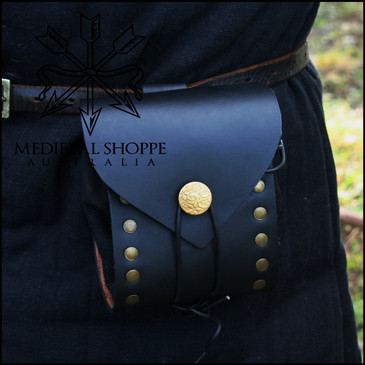 Riveted Leather Belt Pouch
