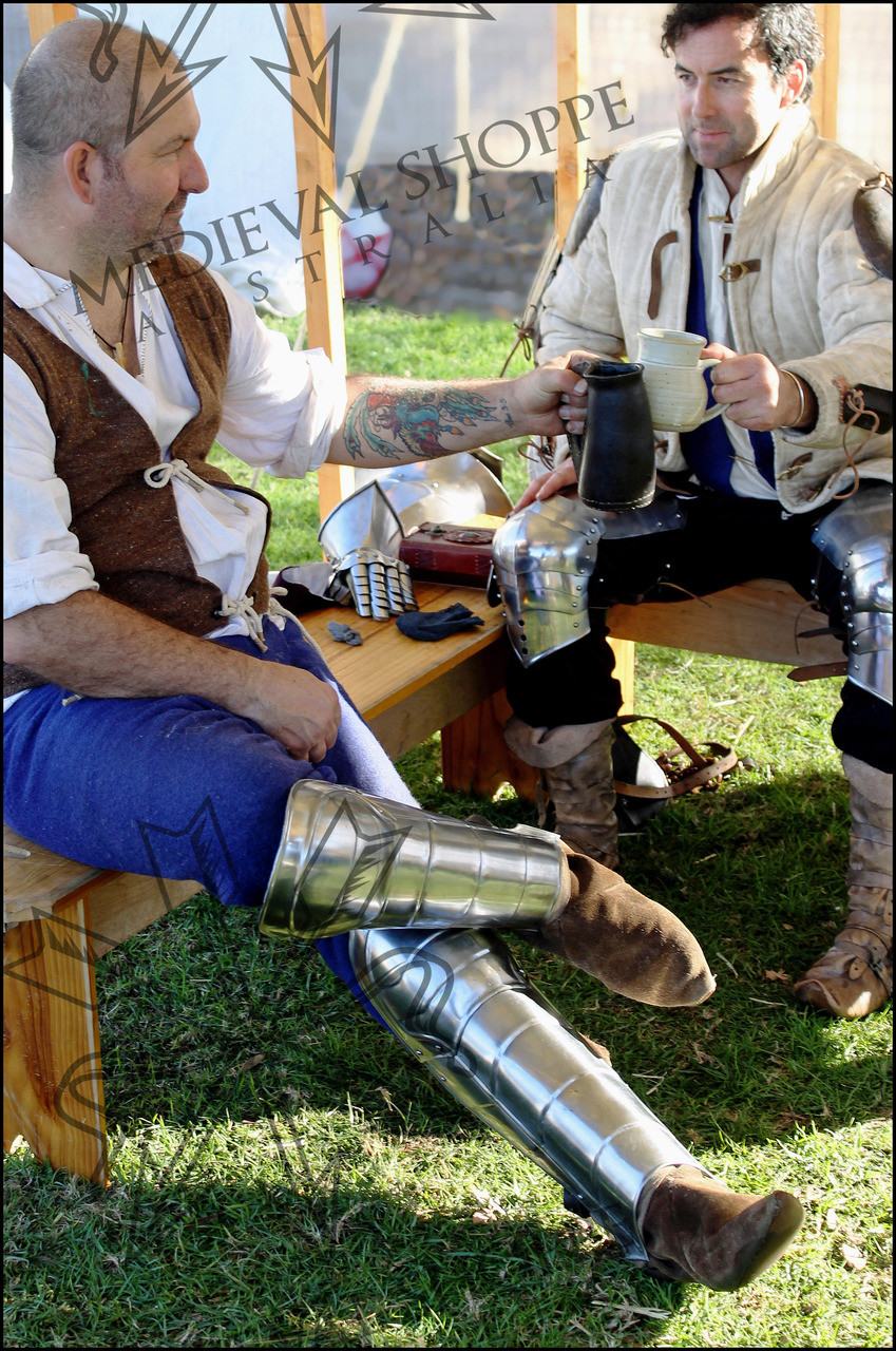 Long Greaves - Medieval Leg Armour - Knight's Shin Guards