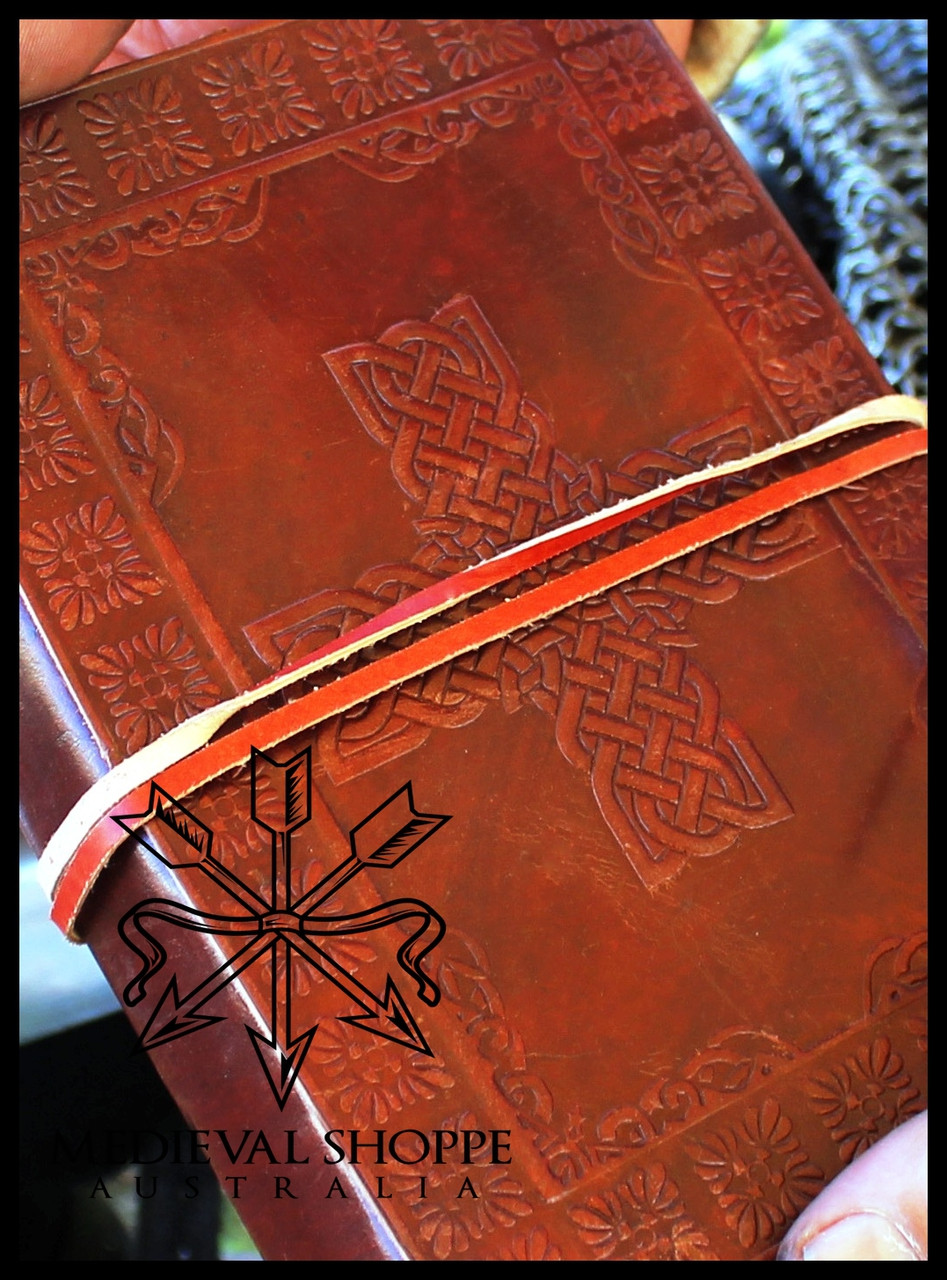Tree of Life & Celtic Knotwork Cross Leather Journal