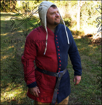 XL Late Medieval Red/Black Gambeson