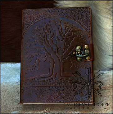 Tree of Life Leather Journal with Loquet