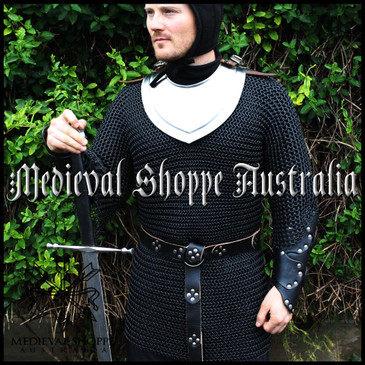 Large Black Chain Mail Half-Sleeved Shirt