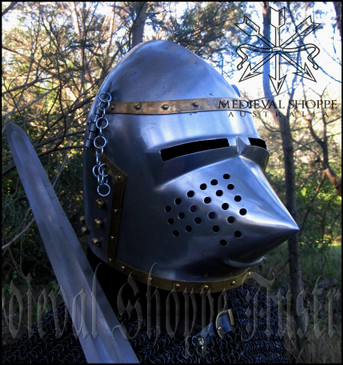 Snout-Faced / Pig-Faced or Hounskull Bascinet (helm) (18G)