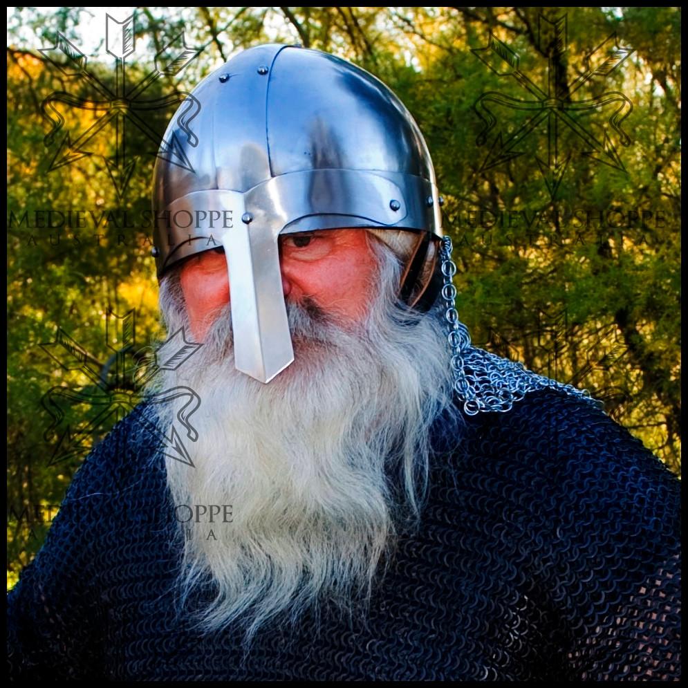 Saxon Helmet with Camail
