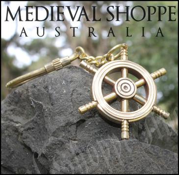Ship Wheel Keychain - Keyring