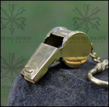 Brass Whistle Keychain