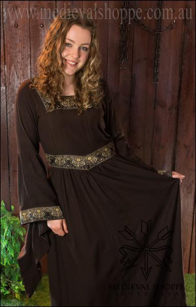 Brown Medieval Dress 2823