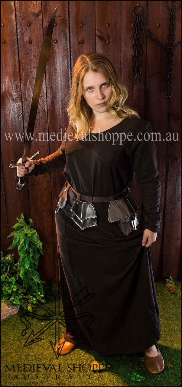 Brown Multi-era Dress, medieval Viking costume
