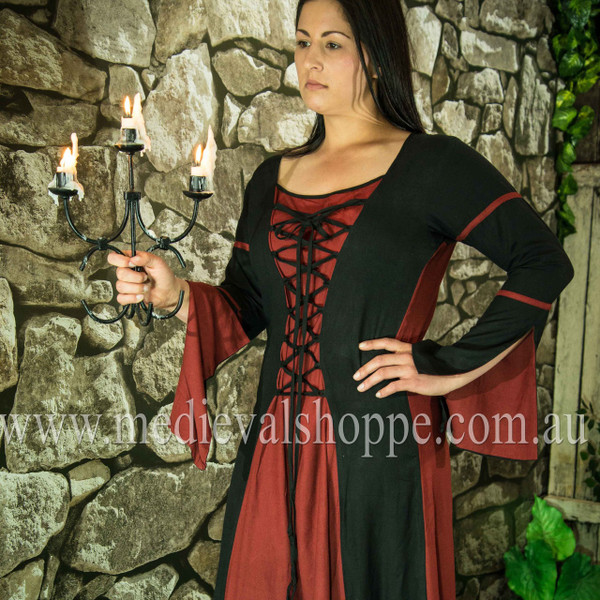 Red & Black Medieval Dress