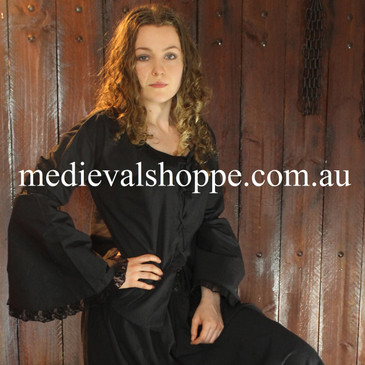 17th or 18th Century Wench Blouse (Black)