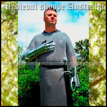 Large Butted Chain Mail Hauberk (Long-sleeved maille shirt)