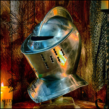 Classic Medieval Knight's Helm (18g)