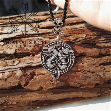 Dragon Ships Pendant & Chain