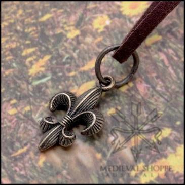 Small Fleur-de-Lis Pendant & Cord