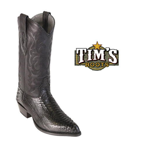 Black Python Boots on TimsBoots