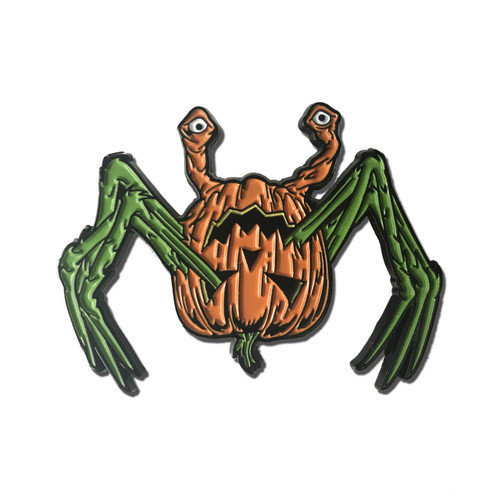Pumpkin Spider Enamel Pin - Pick your variant!