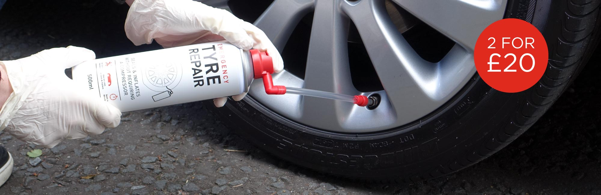 Emergency Tyre Inflator - 2 for £20