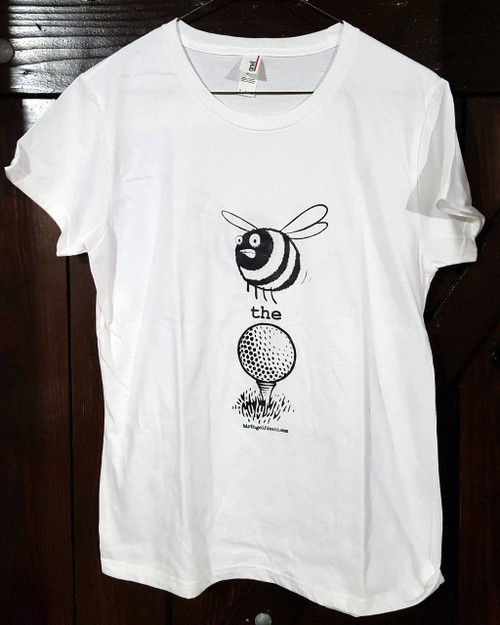 "Women's ""Bee the Ball"" Black & White - SMALL"