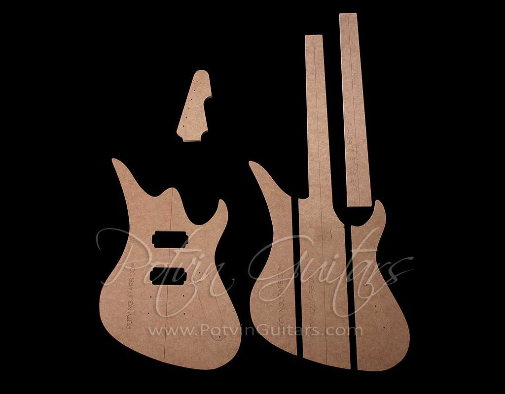 guitar f hole template - av neck through template set potvin guitars