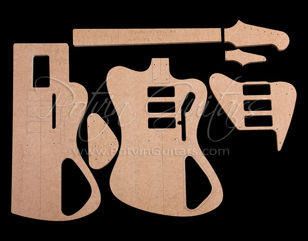 Non-Reverse FB-Style bolt-on neck template set