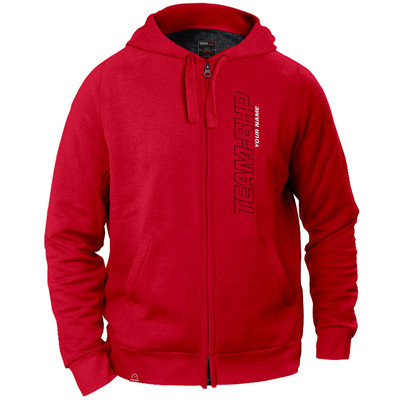 Personalized Team-BHP Hoodie (Red)