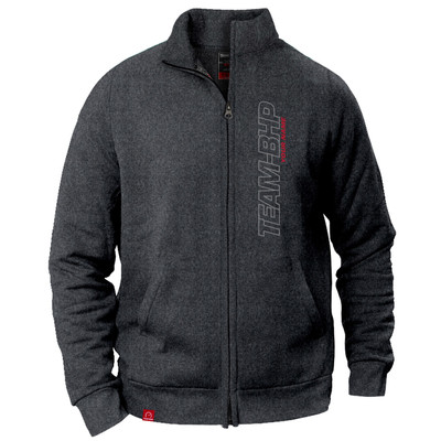 Personalized Team-BHP Jacket (Anthracite Grey)