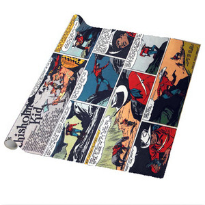 Vintage Black Heroes Wrapping Paper Sheets - The Chisholm Kid - CST1 - Package Of 5
