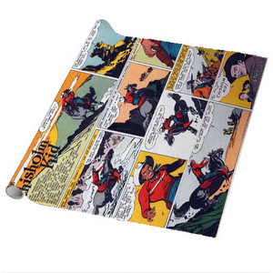 Vintage Black Heroes Wrapping Paper Sheets - The Chisholm Kid - CST7 - Package Of 5