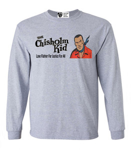 Vintage Black Heroes Men's Long Sleeved T-Shirt - The Chisholm Kid - 3 - Sport Grey