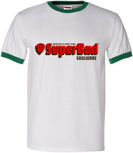 SuperBad Soulware Men's T-Shirt - Green Ringer