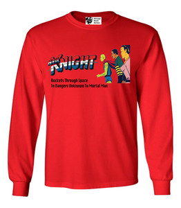 Vintage Black Heroes Men's Long Sleeved T-Shirt - Neil Knight - 1 - Red