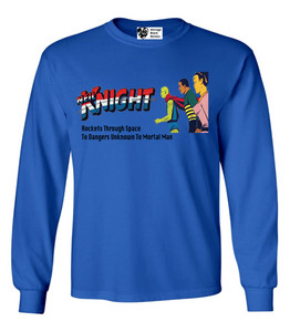 Vintage Black Heroes Men's Long Sleeved T-Shirt - Neil Knight - 1 - Royal Blue