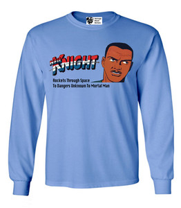 Vintage Black Heroes Men's Long Sleeved T-Shirt - Neil Knight - 2 - Carolina Blue