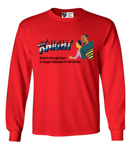 Vintage Black Heroes Men's Long Sleeved T-Shirt - Neil Knight - 5 - Red